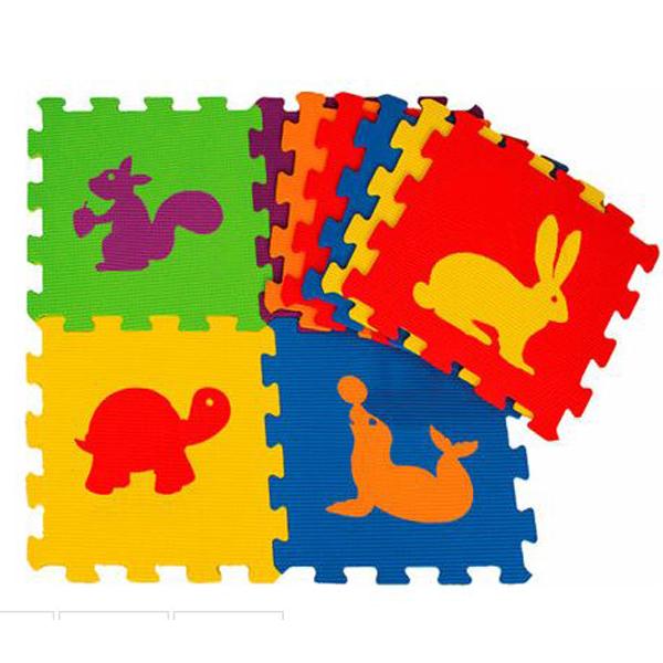 Podna Eva puzzle životinje 9 delova 003069 - ODDO igračke