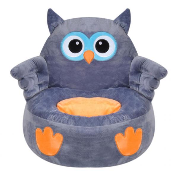 Plišana stolica Sova siva 435696 - ODDO igračke