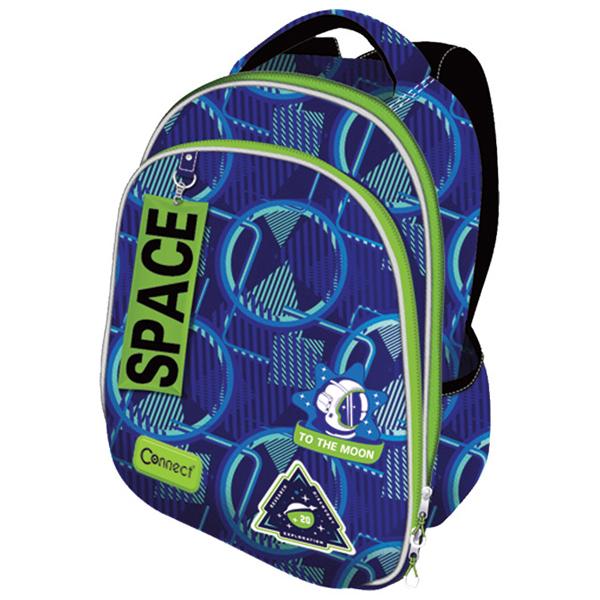 Ranac za školu anatomski lagan XT Space 21.Connect 45041 plavo-zeleni - ODDO igračke