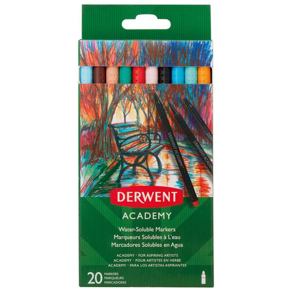 Flomaster 20 boja karton Academy Derwent 98202 blister - ODDO igračke