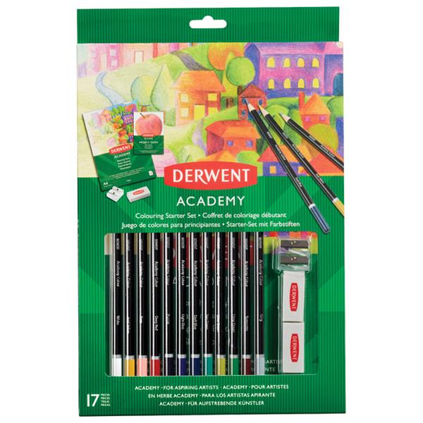 Set Boje drvene 12 boja+pribor Academy Derwent 2305678 blister - ODDO igračke
