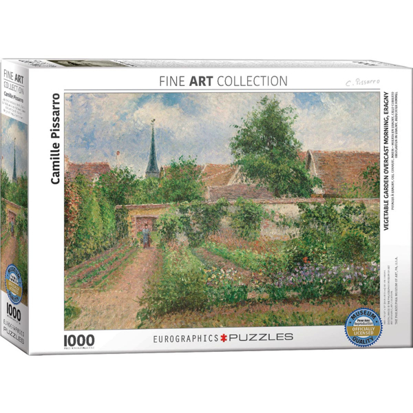 Eurographics Pissaro-Vegetable Garden Overcast Morning Eragny 1000-Pieces Puzzle 6000-0825 - ODDO igračke