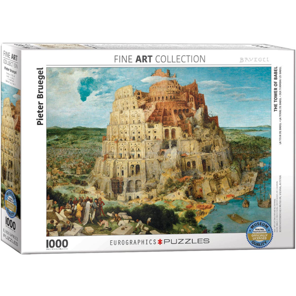 Eurographics Bruegel The Elder - The Tower of Babel 1000-Pieces Puzzle 6000-0837 - ODDO igračke