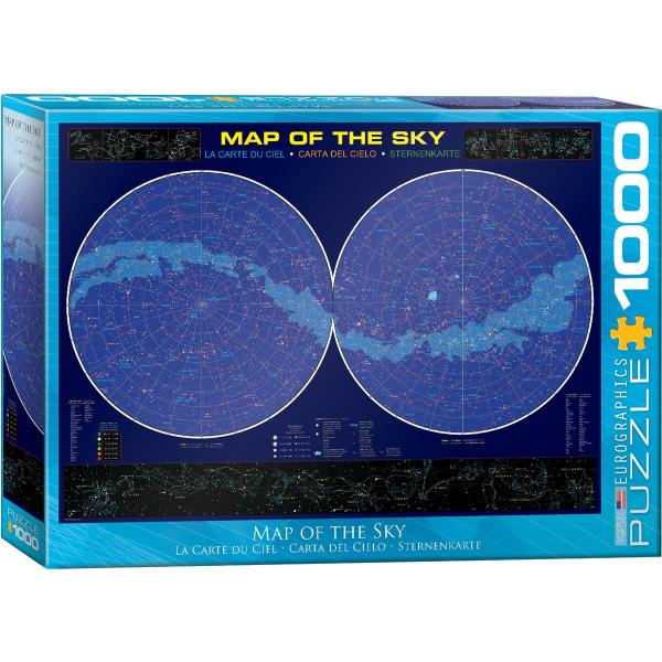 Eurographics Map of the Sky 1000-Piece Puzzle 6000-1010 - ODDO igračke