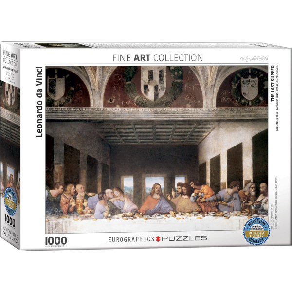 Eurographics Leonardo Da Vinci - The Last Supper 1000-Piece Puzzle 6000-1320 - ODDO igračke