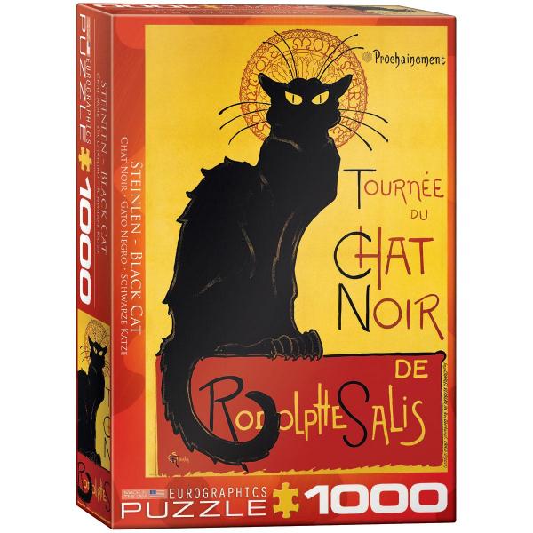Eurographics T.A. Steinlen - Black Cat 1000-Piece Puzzle 6000-1399 - ODDO igračke
