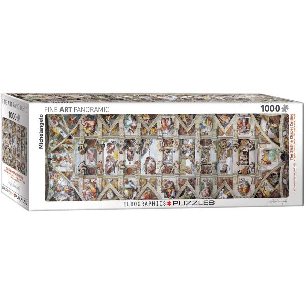 Eurographics Panoramic Fine Art  The Sistine Chapel Ceiling 1000-Piece Puzzle 6010-0960 - ODDO igračke