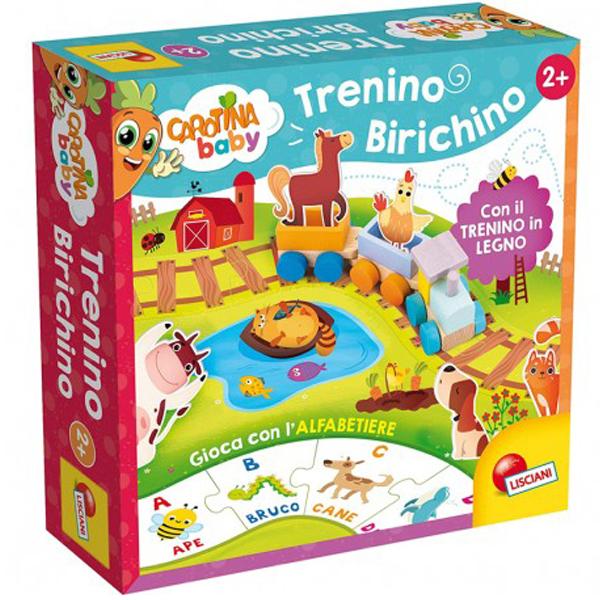 Edukativna igra Carotina Little Train drveni edu vozić Lisciani 84005 - ODDO igračke