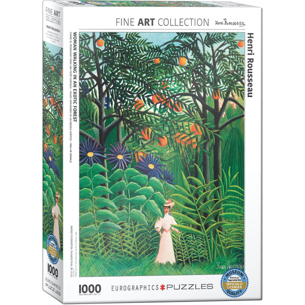 Eurographics Rousseau, Henri Woman in an Exotic Forest 1000-Piece Puzzle 6000-5608 - ODDO igračke