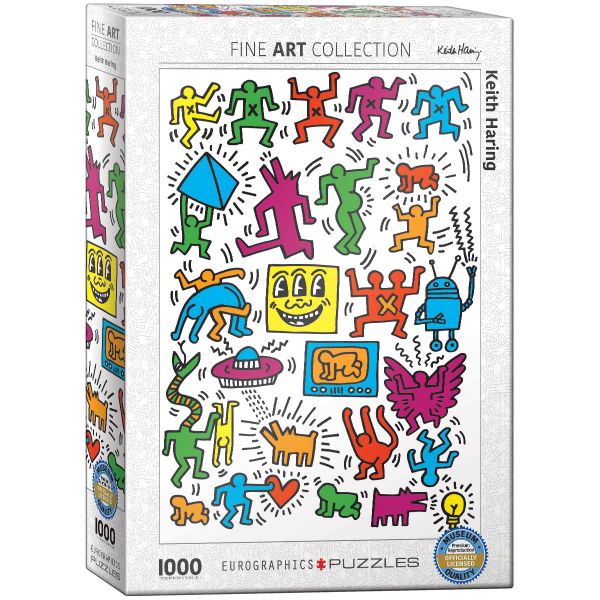Eurographics Keith Haring - Collage 1000-Piece Puzzle 6000-5513 - ODDO igračke