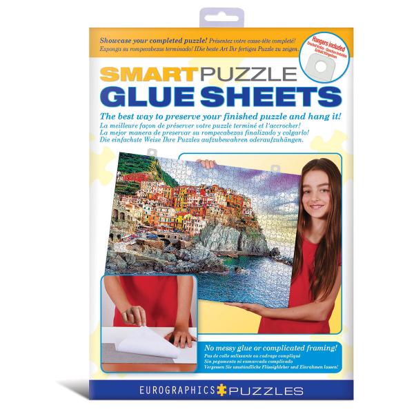 Eurographics Lepljivi papiri za puzzle Smart Puzzle Glue Sheets 8955-0101 - ODDO igračke