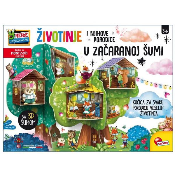 Montesori SR Edukativna igra Porodice iz začarane šume Lisciani 84500/RS76826 - ODDO igračke
