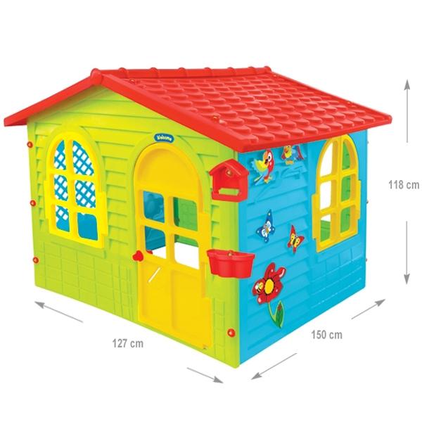 Baštenska plastična kućica 150x127x118cm Mochtoys 04/12241 - ODDO igračke