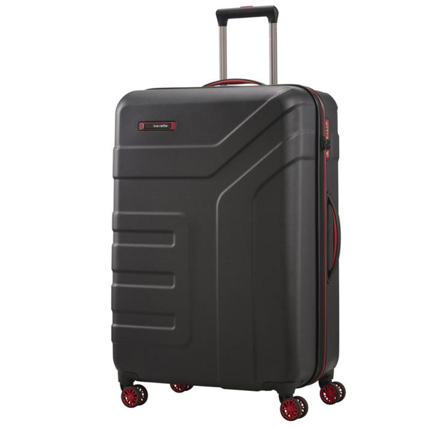 Kofer putni Travelite Vector 4W Trolley L Black/Red 072049-01 - ODDO igračke
