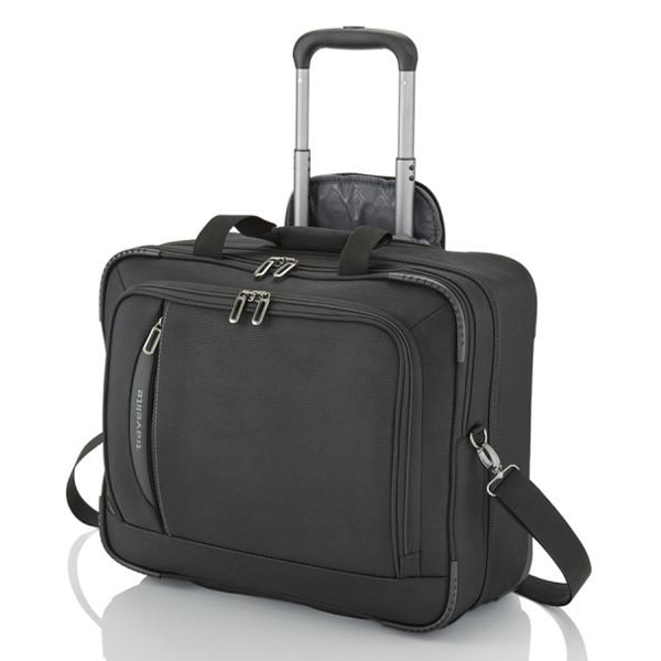 Torba putna Travelite Crosslite Businesswheeler Black 089506-01 - ODDO igračke