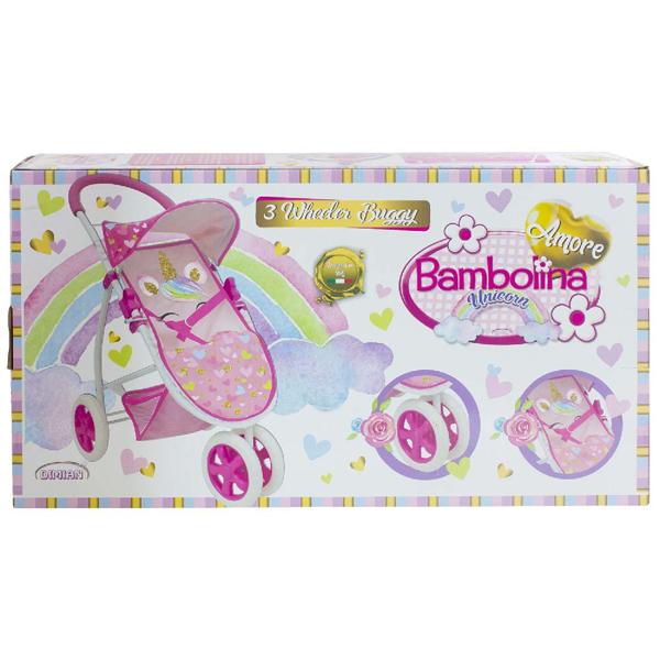 Kolica sa tri točka Unicorn Bambolina Amore DI1850 - ODDO igračke