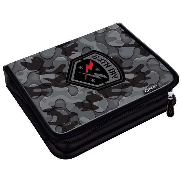Pernica puna 1zip 2preklopa Army Camo Gray 1A 20.Connect 41963 crno-siva - ODDO igračke