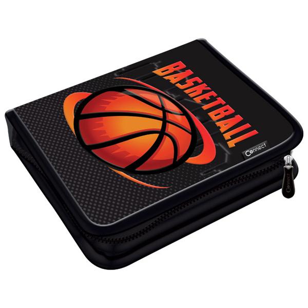 Pernica puna 1zip 2preklopa Basketball Team 1A 20.Connect 41967 crno-narandžasti - ODDO igračke