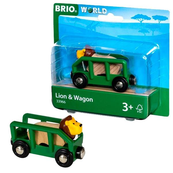 Brio - Lav i vagon BR33966 - ODDO igračke