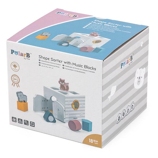 Viga Drveni eduko kocka i muzički blokovi 44052 - ODDO igračke