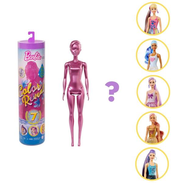 Barbie lutka Color Reveal Shimmer Series Glitter Metallic GTR93 - ODDO igračke
