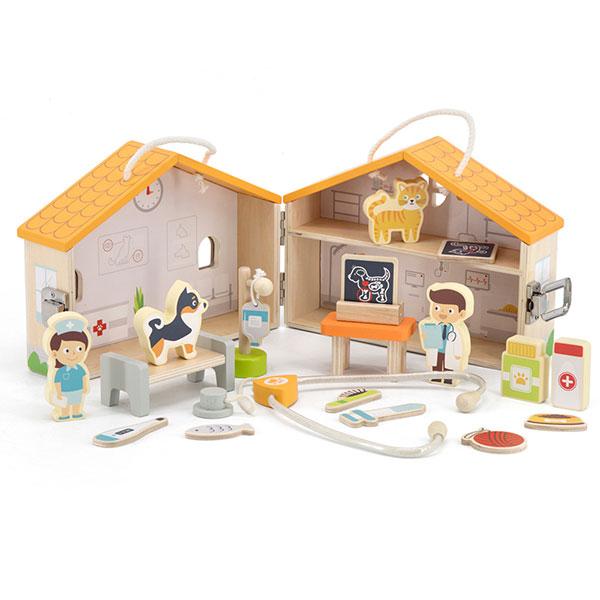 Drvena veterinarska ordinacija 44558 - ODDO igračke