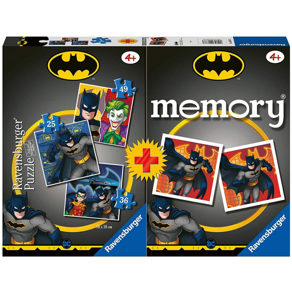 Ravensburger puzzle (slagalice) - Batman puzzla + memorija RA20677 - ODDO igračke