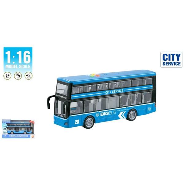 Autobus na sprat 1:16 sa zvukom i svetlom WY912B - ODDO igračke