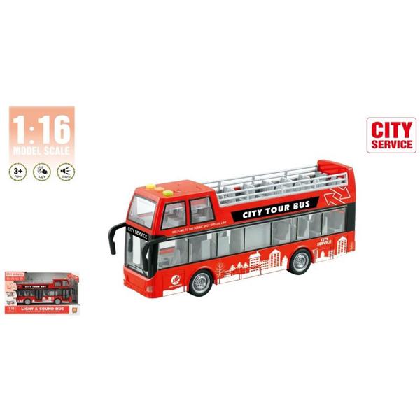 Autobus na sprat 1:16 sa zvukom i svetlom WY916A - ODDO igračke