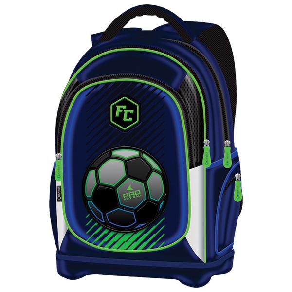 Ranac đački anatomski lagan Pro Football 21.Connect 45026 plavo-fluo zeleni - ODDO igračke