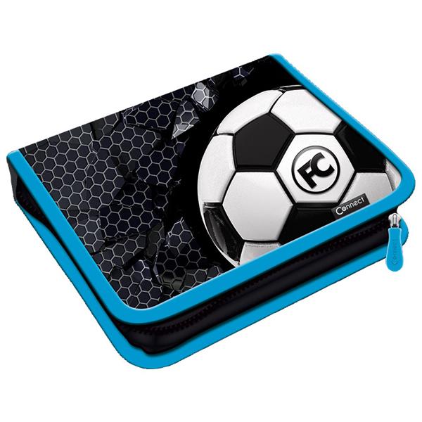 Pernica puna 1zip 2preklopa Football 1B 21.Connect 45049 crno-svetlo plava - ODDO igračke
