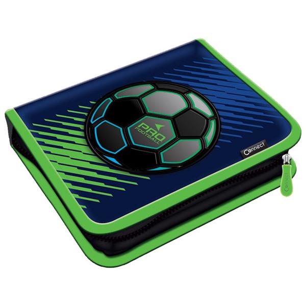 Pernica puna 1zip 2preklopa Pro Football 1A 21.Connect 45029 plavo-fluo zelena - ODDO igračke
