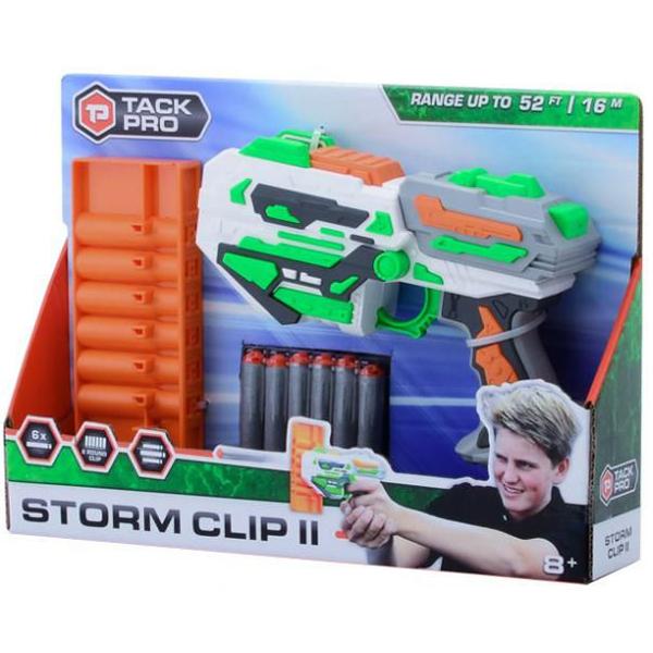 Tack Pro Storm Clip Pištolj sa 6 šanžera i 6 metkova 20cm 31015 - ODDO igračke