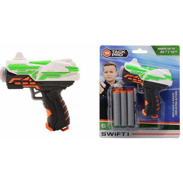 Tack Pro Swift I Pocket Pistolj 11cm sa 6 sundjerastih metaka Starter Kit 31001 - ODDO igračke