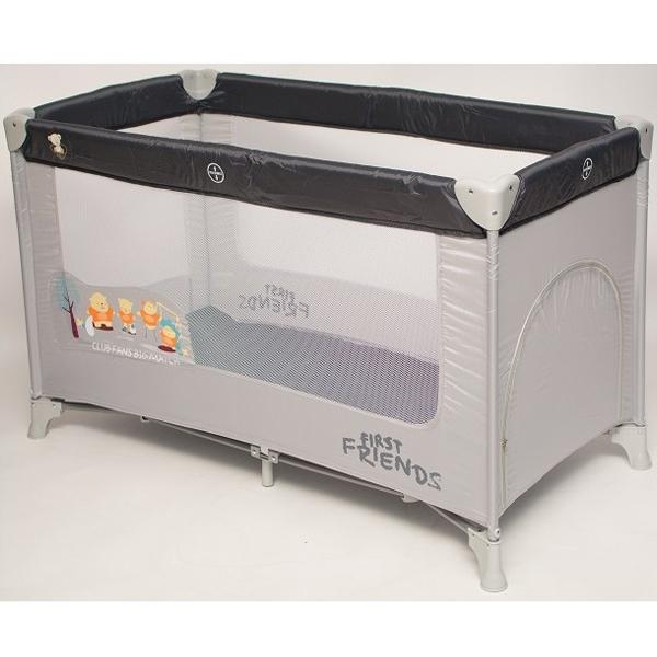 Baby Bear Origin Prenosivi Krevetac 1 Nivo Dream and Play Grey-Print P902GRAY - ODDO igračke