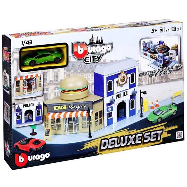 Fire City DeLuxe set i vozilo Burago 1/43 asst BU31507 - ODDO igračke