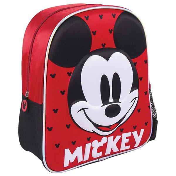 Ranac predškolski 3D Mickey Cerda 2100003532 crno-crveni - ODDO igračke