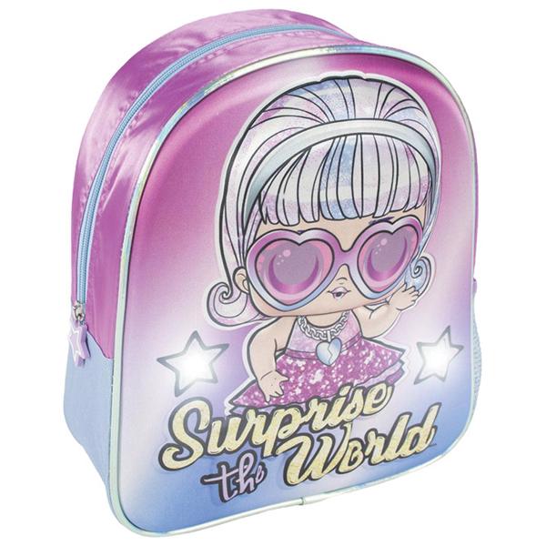 Ranac predškolski sa svetlom 3D Lol Cerda 2100003447 roze - ODDO igračke