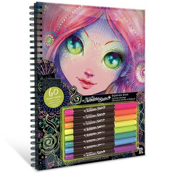 Nebulous Stars – Black Pages Colouring Book Bojanka sa crnim stranicama 11111 - ODDO igračke