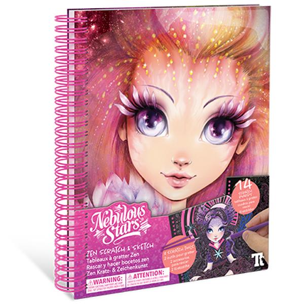 Nebulous Stars – Creative Book Zen Scratch & Sketch 11128 - ODDO igračke