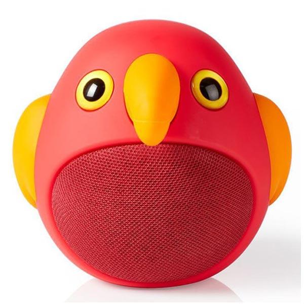 Zvučnik Nedis Peri Papagaj Bluetooth SPBT4100RD - ODDO igračke