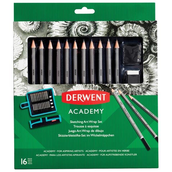 Set u platnenoj pernici Olovka grafitna 5H-6B+pribor Academy Derwent 2305682 blister - ODDO igračke