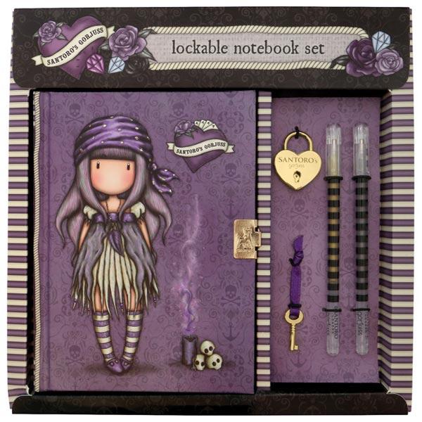 Notes sa olovkom hemijskom sa ključem i priveskom Sea Nixie Gorjuss 522GJ08 - ODDO igračke