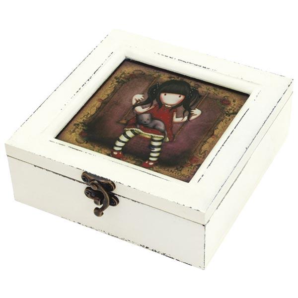 Kutija ukrasna drvena pravougaona Ruby Gorjuss 521GJ01 - ODDO igračke
