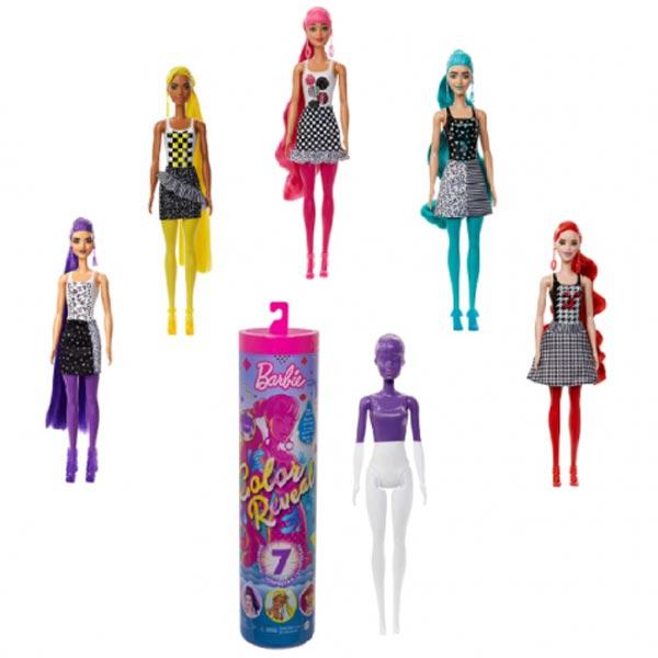 Barbie lutka Color Reveal Doll with 7 Surprises GTR94 - ODDO igračke