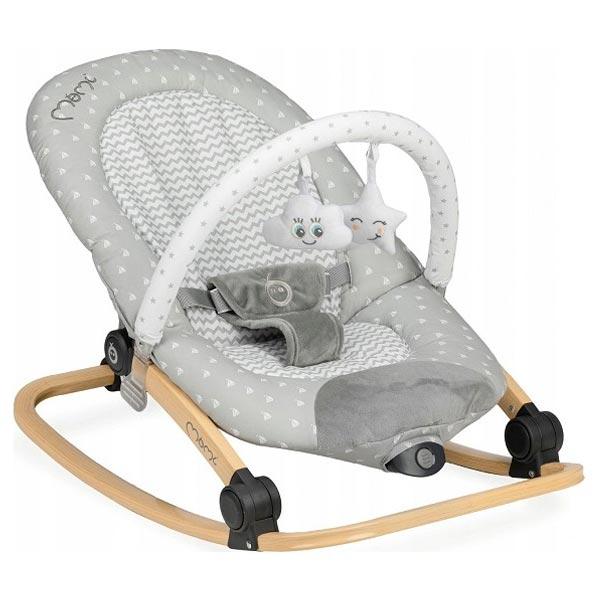 Momi Ležaljka za bebe LumiWood Grey Stars BULE00009 - ODDO igračke