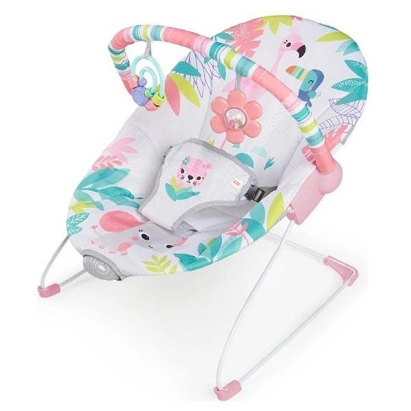 Kids II Bright Starts Ležaljka sa vibracijom - Flamingo Vibes SKU12228 - ODDO igračke