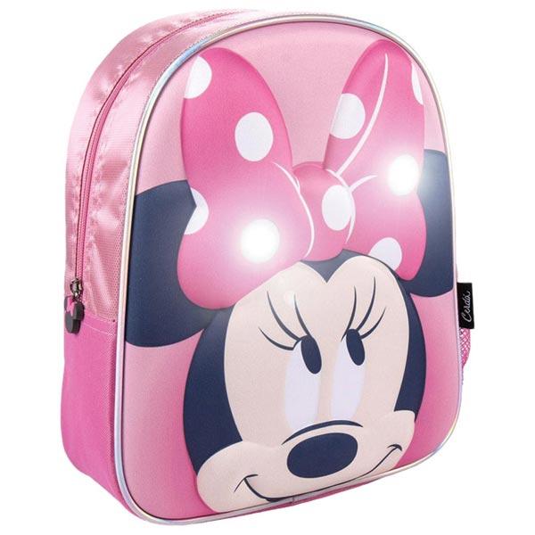 Ranac predškolski sa svetlom 3D Minnie Cerda 2100003448 roze - ODDO igračke
