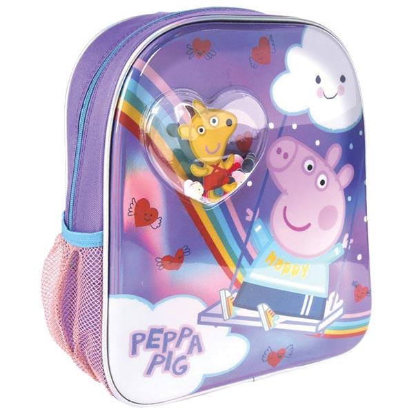 Ranac predškolski sa konfetama Peppa prase Cerda 2100003453 ljubičasti - ODDO igračke