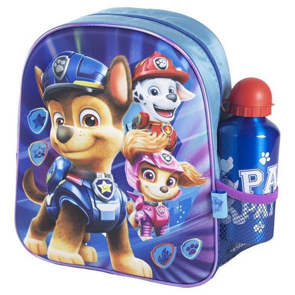 Ranac predškolski 3D+flašica Patrolne šape Cerda 2100003592 plavi - ODDO igračke